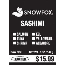 Sashimi $15.99