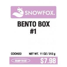 Bento Box #1 $7.98