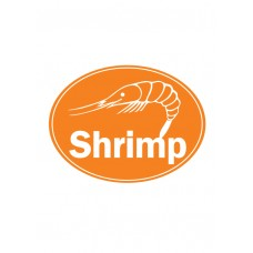 Shrimp Oval Sticker