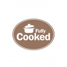 Fully Cooked Oval Sticker