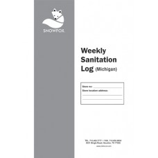 Weekly Sanitation Log Book